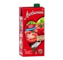 Сок ЛЮБИМЫЙ томатн. с морск. солью 0,95л 12шт