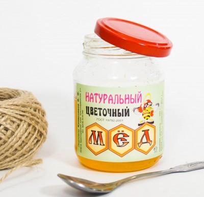 Мед ЦВЕТОЧНЫЙ натуральный 350г_0