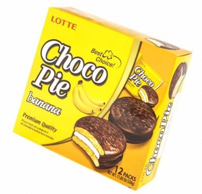 Choco-Pie  LOTTE БАНАНОВЫЙ 28г х 12_0