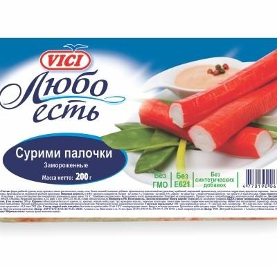 Крабовые Палочки (Сурими палочки) VICI замороженные 200г_0