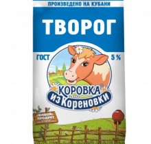 """Творог """"Коровка из Кореновки"""" 5% 180г"""