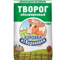 """Творог """"Коровка из Кореновки"""" 0% 180г"""
