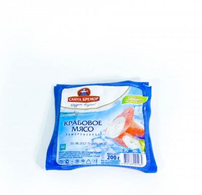 Крабовое Мясо Санта Бремор замороженное 200г_0