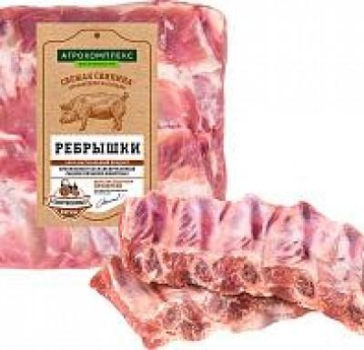 Свинина РЕБРА в/у 1кг (Агрокомплекс)_0