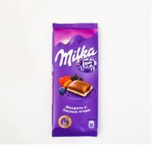Шоколад Milka  МИНДАЛЬ И ЛЕСНЫЕ ЯГОДЫ 90г