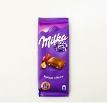 Шоколад Milka  ФУНДУК И ИЗЮМ 90г