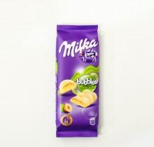 Шоколад Milka bubbles пористый белый ФУНДУК 83г