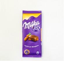 Шоколад Milka ЦЕЛЬНЫЙ МИНДАЛЕМ 90г