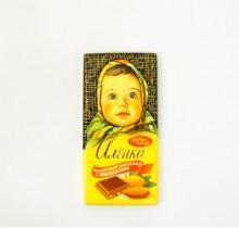 Шоколад Аленка 100г МИНДАЛЬ  (Красный Октябрь)