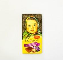 Шоколад Аленка 100г ФУНДУК И ИЗЮМ (Красный Октябрь)