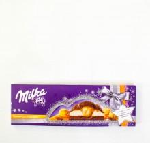 Шоколад Milka ЦЕЛЬНЫЙ ОРЕХ И КАРАМЕЛЬ 250 г