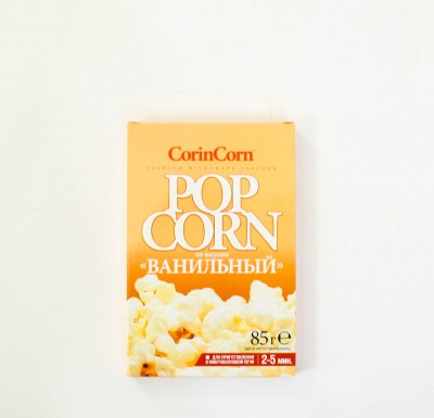Попкорн для микроволновки  Corin Corn ВАНИЛЬНЫЙ  85г_0