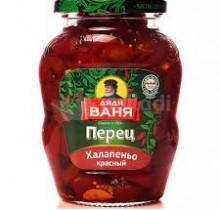 Перец Халапеньо красный 350г (Дядя Ваня)