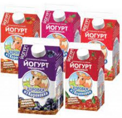 Йогурт Коровка из Кореновки 2,5% 0,45л в ассортименте_0