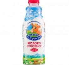 Молоко Коровка из Кореновки 3,4-6% 900г бутылка