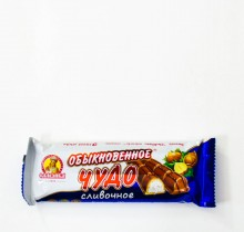 Батончик ОБЫКНОВЕННОЕ ЧУДО Сливочное 55 г (КО Славянка)