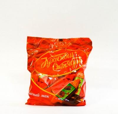 Конфеты КРАСНЫЙ МАК шоколадные 250г (Красный Октябрь)_0