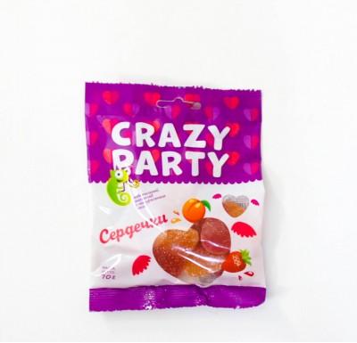 Мармелад CRAZY PARTY Сердечки 70г_0
