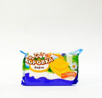 """Вафли """"Коровка"""" топленое молоко """"РотФронт"""" 150 гр_0"""