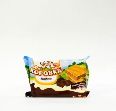 """Вафли """"Коровка"""" с шоколадной начинкой """"РотФронт"""" 150 гр_0"""