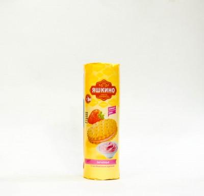 """Печенье с клубничным кремом """"Яшкино"""" 182 гр_0"""