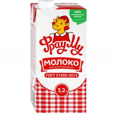 Молоко Фрау МУ 950 гр 3,2%_0