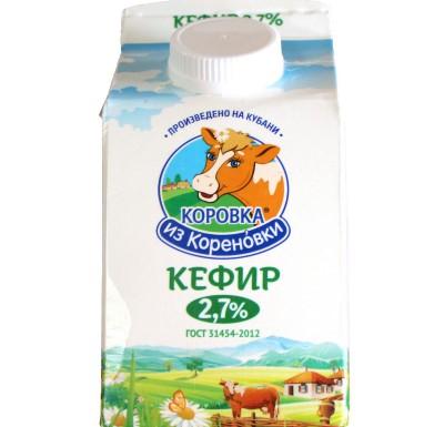 Кефир Коровка из Кореновки 2,7% 0,45л_0