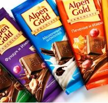 Шоколад Альпен Голд в ассортименте 90г