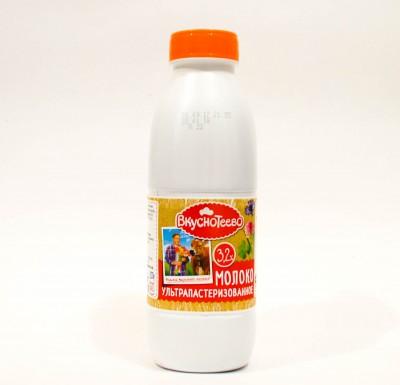 Молоко Вкуснотеево 3,2% 900г_0