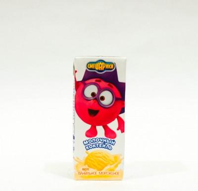 Смешарики Молочный Коктейль 2,5% ВАНИЛЬНОЕ МОРОЖЕНОЕ 0,2л _0