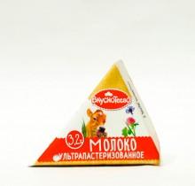 Молоко Вкуснотеево 3,2% 0,2л