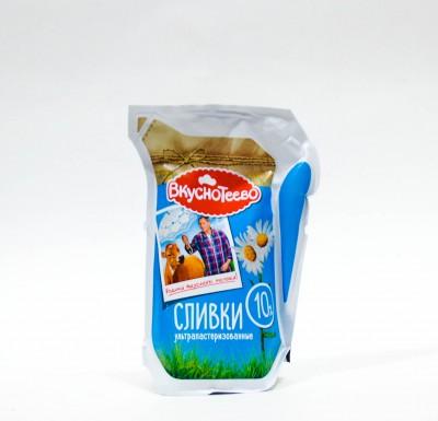 Сливки Ультрапастеризованные Вкуснотеево 10% 125мл_0
