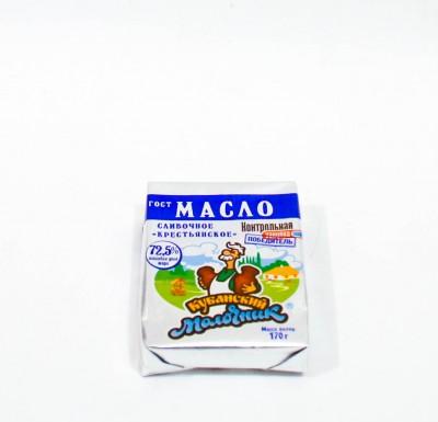 Масло Сливочное Кубанский молочник 72,5% 170г _0
