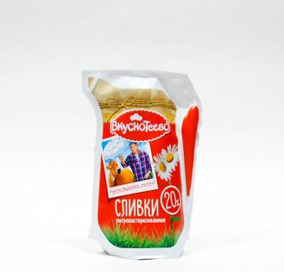 Сливки Ультрапастеризованные Вкуснотеево 20% 125мл_0