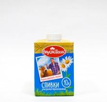 Сливки Ультрапастеризованные Вкуснотеево 10% 475 г