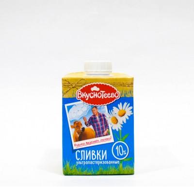 Сливки Ультрапастеризованные Вкуснотеево 10% 475 г_0