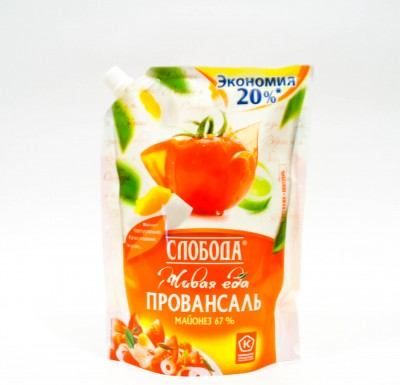 Майонез Слобода ПРОВАНСАЛЬ 67% дой-пак750г_0