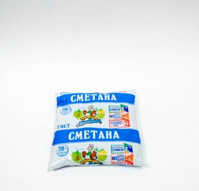 Сметана Кубанский Молочник 20% 450г_0