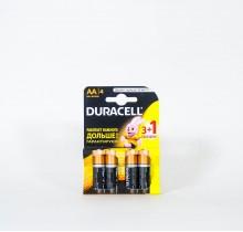 Батарейки DURACELL пальчиковые 4 шт