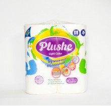 Бумажные полотенца Plushee 2 слоя, 2 рулона