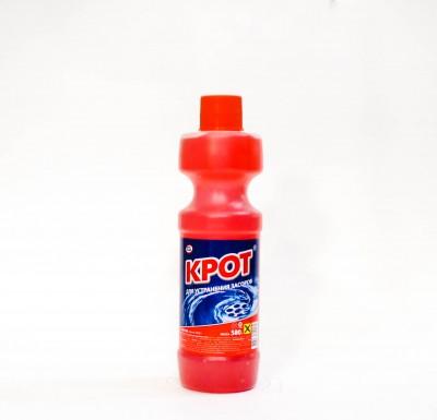 Жидкость КРОТ для устранения засоров в трубах  500г_0
