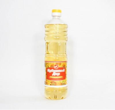"""Масло подсолнечное, рафинированное, дезодорированное, 0,9 л  """"Кубанский дар""""_0"""