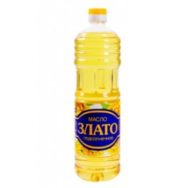 """Масло подсолнечное, рафинированное, дезодорированное, 1 л  """"Злато""""_0"""