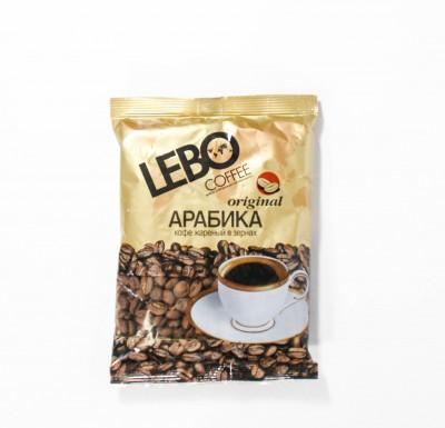 Кофе Лебо Оригинал жареный в зернах 100г м/у_0