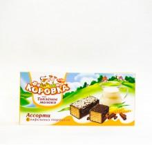 Торт вафельный Коровка ТОПЛЕНОЕ МОЛОКО (РотФронт) 200 гр