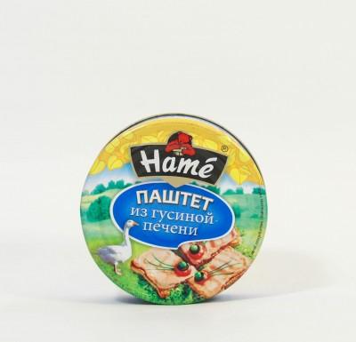 """Паштет из гусиной печени, 250 г, """"HAME"""" с ключом _0"""