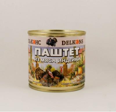 """Паштет из мяса индейки, 250г, """"Дельконс""""_0"""