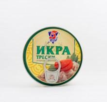 "Икра трески 160г ""5 Морей"", ""Боско"" с ключом"
