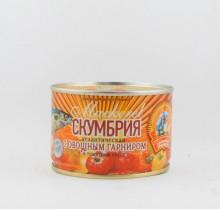 Скумбрия в томатном соусе с овощами, 240 гр, КТК  (г. Калининград)