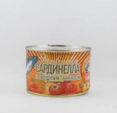 Сардинелла в томатном соусе с овощами, 240 гр, КТК  (г. Калининград)_0